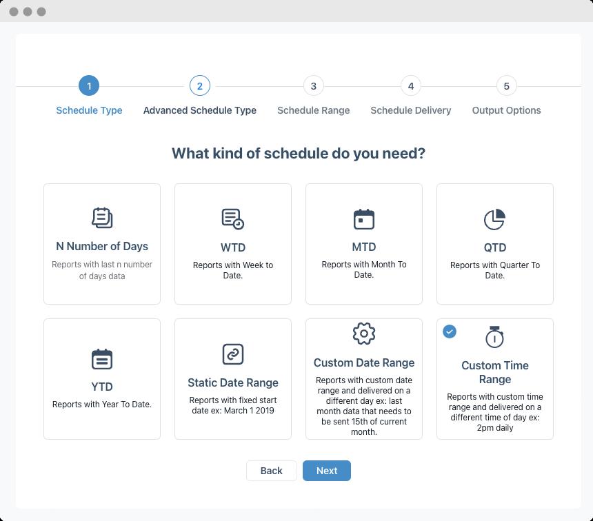 Advanced Report Schedules